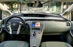 Toyota Prius, передняя панель, авто, фото, руль, Япония