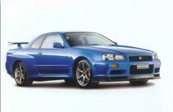 Nissan Skyline R34, машина, японские автомобили, седан, фото