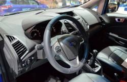 Интерьер Форд ЭкоСпорт, руль, сиденья, кроссовер, машина, американские автомобили
