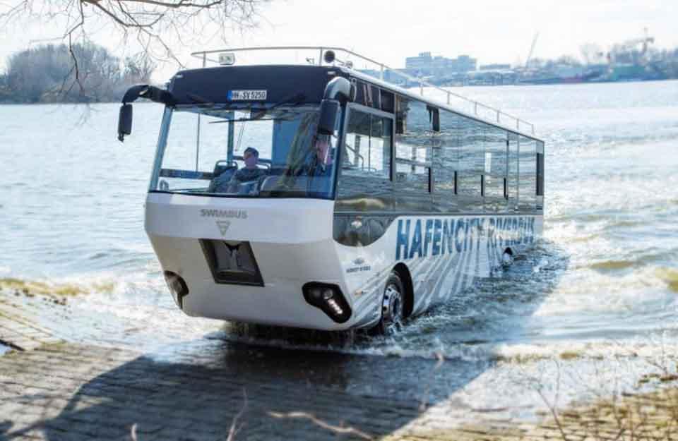 амфибия для туристов, речной автобус, MAN, общественный транспорт, компания Bus Sales North at MAN Truck & Bus Deutschland GmbH