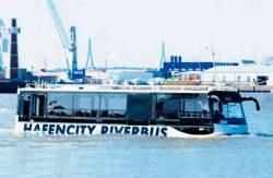 речной автобус, амфибия, MAN, Hafencity Riverbus, Гамбург, транспортное средство